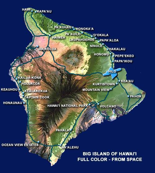 Big Island Hawaii Hilo Kona Drive Times Mileage Chart